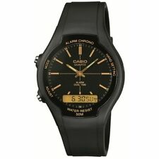 Casio Unisex Stainless Steel Watch AW-90H-9EVEF Black Dial