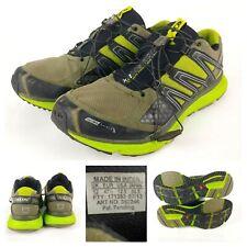 SALOMON XR MISSION 1 Men's Trail Running Hiking Shoes Size 12.5 Black / Green