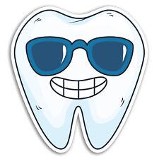 2 x 10cm Cool Tooth Vinyl Stickers - Teeth Funny Dentist Student Sticker #17353