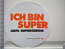 Adesivo sticker AGFA FOTO FILM-GEVAERT-SUPER CROMO - 80er-DECAL (2463)