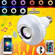 12W E27 LED RGB Wireless bluetooth Speaker Light Bulb Music Playing Lamp