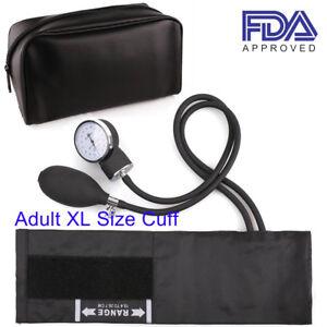 Manual Aneroid Sphygmomanometer Blood Pressure BP Monitor Tester XL Large Cuff