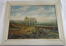 Original Oil Painting On Canvas Welsh Landscape By R Davies 1972 School Of Art