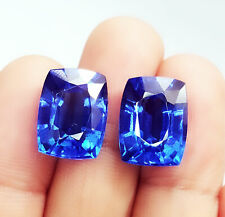 Loose Gemstone 8 to 10 cts Certified Pairs Natural Blue Sapphire Z117