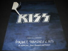 KISS their 17th Platinum Album SMASHES THRASHES & HITS Promo Poster Ad