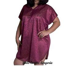 Nachthemd Bigshirt Negligee USA bordeaux weinrot plussize dunkelrot Größe 44 NEU