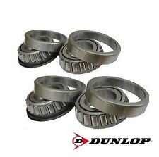 Dunlop Set of 4 Taper Bearings for Trailer Wheels 44643/44610 FREE UK P&P