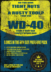 FUNNY METAL WD-40 TOOL POSTER NOVELTY METAL SIGN FUNNY SIGN XMAS BIRTHDAY GIFT