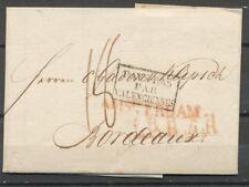 BRIEF AMSTERDAM-BORDEAUX 26 NOV 1821, GRENSST.'PAYS BAS PAR VALENCIENNES'  S164