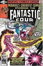 Marvel's Greatest Comics Comic Book #85 Fantastic Four 1980 Very Fine+