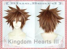 Kingdom Hearts III Sora Wig Brown Short hair + Wig Cap Cosplay Costume