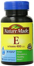 Nature Made Vitamin E 400IU, Helps Maintain Healthy Heart,180 Softgels