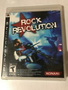 ROCK REVOLUTION. PlayStation 3.  Manual Included