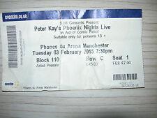 PETER KAY'S PHOENIX NIGHTS LIVE TICKET STUB. MANCHESTER ARENA 3.2.2015