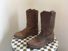 VINTAGE 1992 USA DISTRESSED BROWN RED WING BOOTS 7 B