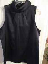 Womens New Without Tags 12 Black Polyester Sleeveless Top