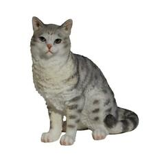 American Shorthair Tabby Cat Figurine Spotted Gray Kitten Kitty Pets New in Box