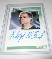 Star Trek The Next Generation Autograph Trading Card Rudolph Willrich as Reittan