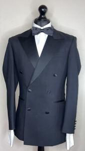 EDE and RAVENSCROFT LUXURY TUXEDO DRESS SUIT 100% WOOL CLASSIC FIT 36x30x32