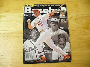 Beckett Baseball Card Monthly Magazine - April 2001 (Mark McGwire) - EXCELLENT