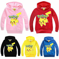 Kids Child Pokemon Go Pikachu Hoodies Sweatshirt Pullover Jumper Toddler Tops