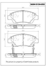 Disc Brake Pad Set-Ceramic Pads Front Pronto PCD1394