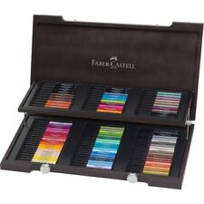 #167400 Faber Castell 90pc Wooden Case Pitt Artist Pen Set India Ink Sketch Draw