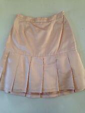 CHANEL Satin Silk Flirty Semi-Pleated Pink Mini Skirt with Fluffy Liner S 40
