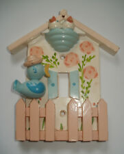 ELECTRIC SWITCH PLATE cover 3D SINGLE TOGGLE Baby BIRD Window Fence bird's NEST