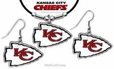 KANSAS CITY CHIEFS NECKLACE & EARRINGS SET NFL FOOTBALL JEWELRY - FREE SHIP #BL'