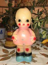 "Vintage Kewpie 12"" Tall Chubby Carnival Chalkware Cupie Cheerful Cherub BANK"