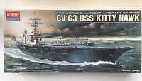 Academy Model Kit CV-63 USS Kitty Hawk 1/800th Scale Aircraft Carrier (NEW)
