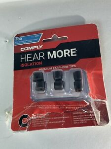 COMPLY ISOLATION  Hear More Memory Foam Earbud Tips - 3 pair  T500 Small