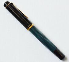 Pelikan M200 Kolbenfüller Füllfederhalter Füller blau marmoriert