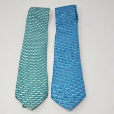 Two Vineyard Vines Silk Youth Necktie Fish Fishing Sea Kids Boys