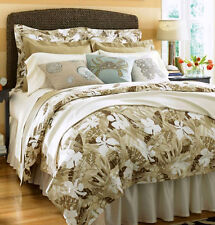 Sferra MALLORY Queen Sheet Set 300TC Egypt Cotton Taupe Browns/Ivory Print New