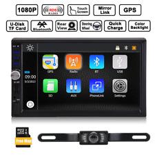 "GPS Navi 7"" Car No DVD Radio Stereo Player BT Mirror Link USB+8GB Map Card+CAM"