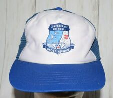 Confederate Air Force Ghost Squadron Mesh Trucker Hat Snapback Vintage