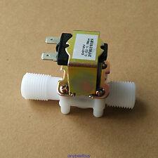 Plástico la válvula solenoide eléctrico 12V agua normalmente cerrado abierto