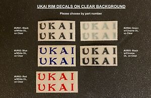 UKAI RIM DECALS, Correct on Clear - Choice of 5 Colors + New 48s Decal