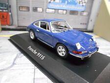 PORSCHE 911 S 911S Coupe 1964 blue blau Maxichamps Minichamps 1:43