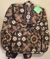 New Retired Rare Vera Bradley Double Zip Backpack In Canyon Brown