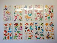 10 Bögen Meerjungfrauen Tattoos Nixe Baden Elfen Feen Kindertattoo temporär