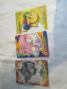 POKEMON CARDS LOT 13 TOPPS PUZZLE CARDS X3 PIKACHU ETC