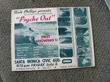 New listing Vintage Walt Phillips Surf movie poster surfing surfboard 1960 Psyche out nice