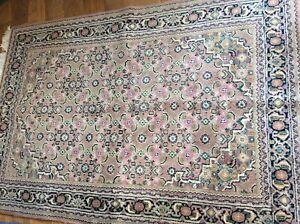 large huge antique/vintage rug carpet wool pers ian 188cm x 118cm
