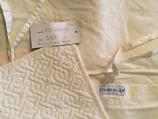 NEW!! Ethan Allen Cream Ivory Euro Sham Pillow Cover - Designer - Ties in Back