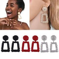 Fashion Metal Eardrop Ear Stud Geometry Dangle Women Earrings Party Jewellery