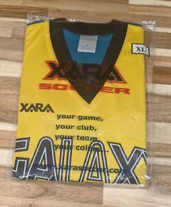 Rare VTG XARA 90s LA Los Angeles Galaxy Football Soccer Black Jersey Mens XL