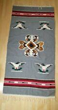 Vintage Native American Chimayo Wool Shawl Poncho Southwestern Thunderbird